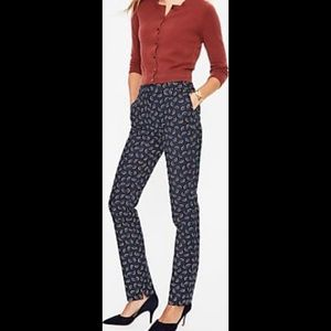 Boden arc-print trousers